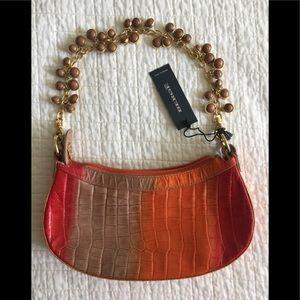 NWT Bergé multicolor leather bag w/chain strap